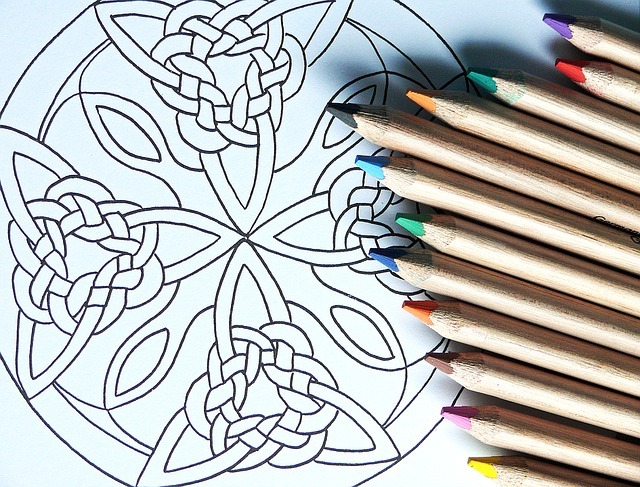 Kreative Hobbys -Mandala malen